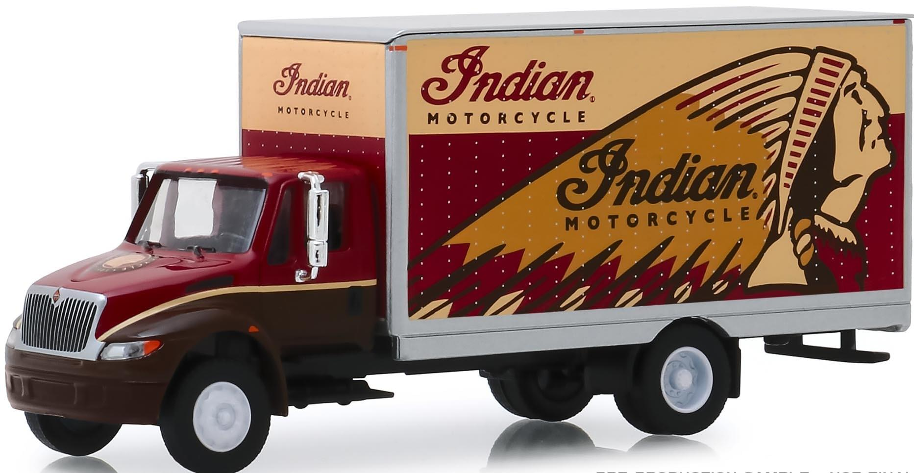 "International DuraStar Box Van ""Indian Motocycle"""